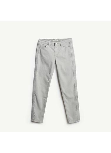 Yargıcı Yan Dikiş Detaylı 5 Cep Pantolon Taş